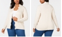 Belldini Plus-Size Scalloped-Edge Open-Front Cardigan