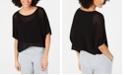 Eileen Fisher Short-Sleeve Asymmetrical-Hem Top