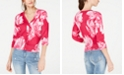 INC International Concepts I.N.C. Floral Cardigan, Created for Macy's