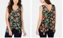 Thalia Sodi O-Ring Handkerchief-Hem Top, Created for Macy's