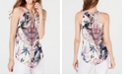 INC International Concepts INC Printed Chain-Neck Halter Top, Created for Macy's