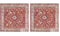 Safavieh Bristol Rose and Light Gray 7' x 7' Square Area Rug