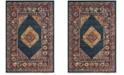 Safavieh Madison Blue and Fuchsia 4' x 6' Area Rug