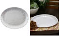 Gibson Home Plastic Oval Traditional Holiday Serving Platter