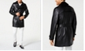 INC International Concepts I.N.C. Men's Faux Leather Trench Coat, Created for Macy's