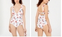 Lucky Brand Printed Tankini Top, Available in D Cup & Printed Hipster Bikini Bottoms