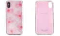 kate spade new york Glitter Abstract Peony iPhone XS Case