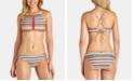 Raisins Juniors' Striped Bikini Top & Side-Tie Bottoms