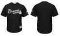 Majestic Men's Atlanta Braves Black Tux Replica Cool Base Jersey