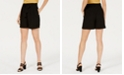Bar III Belted Solid Shorts, Created for Macy's