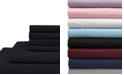 Elite Home Twin Microfiber Solid Sheet Set with Bonus Pillowcases
