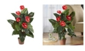 Nearly Natural 3' Anthurium Silk Plant - Real Touch