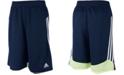 adidas Big Boys Three-Stripe Speed Shorts