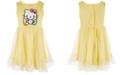 Hello Kitty Toddler Girls Glitter Mesh Dress, Created for Macy's
