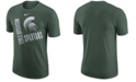 Nike Men's Michigan State Spartans Dri-Fit Cotton Just Do It T-Shirt