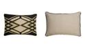 "Jaipur Living Nikki Chu By Akio Black/Beige Geometric Down Throw Pillow 16"" x 24"""