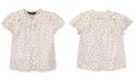 Polo Ralph Lauren Little Girls Floral Cotton Batiste Top