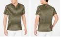 INC International Concepts I.N.C. Men's Striped Split-Neck T-Shirt, Created for Macy's