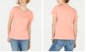 Karen Scott Petite Cotton Star-Stud Top, Created for Macy's