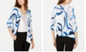 Alfani Printed Open-Front Cardigan, Created for Macy's