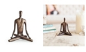 Danya B Yoga Lotus Bonze Sculpture