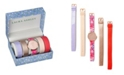 Laura Ashley Rose Gold Slidethrough Interchangeable Sleek Dial Floral Straps Set Watch