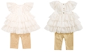 First Impressions First Impression's Baby Girl's Metallic Tunic Set, Created for Macy's
