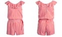 Epic Threads Big Girls Striped Wrap Romper, Created for Macy's