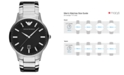 Emporio Armani Watch, Men's Stainless Steel Bracelet 43mm AR2457