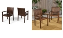 Noble House Wilson Outdoor Dining Chair, Set of 2