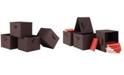 Winsome Capri Set of 4 Foldable Chocolate Fabric Baskets