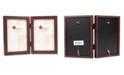 """Lawrence Frames 755946D Espresso Wood Hinged Double Picture Frame - 4"""" x 6"""""""