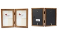 """Lawrence Frames 766046D Nutmeg Wood Hinged Double Picture Frame - 4"""" x 6"""""""