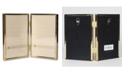 """Lawrence Frames Hinged Double Simply Gold Metal Picture Frame - 4"""" x 6"""""""