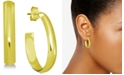 Essentials Polished Oblong Small Hoop Earrings  s