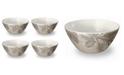TarHong Rustic Pine Bowl, Set of 4
