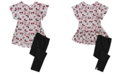 Disney Toddler Girls 2-Pc. Minnie Mouse Playing on Stripes Tunic & Leggings Set, Created for Macy's