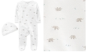 Carter's Baby Boys & Girls 2-Pc. Footed Coverall & Hat Cotton Set