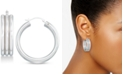 Signature Gold Diamond Accent Triple Hoop Earrings, Created for Macy's