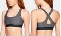 Under Armour Women's Heathered Cross-Back Medium-Support Compression Sports Bra