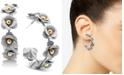 Zenzii Rose Embellished Medium Hoop Earrings
