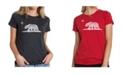 LA Pop Art Women's Premium Word Art T-Shirt - California Bear