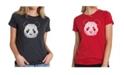 LA Pop Art Women's Premium Word Art T-Shirt - Panda Face
