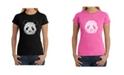 LA Pop Art Women's Word Art T-Shirt - Panda Face