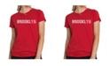 LA Pop Art Women's Premium Word Art T-Shirt - Brooklyn Neighborhoods