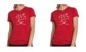 LA Pop Art Women's Premium Word Art T-Shirt - The Word Love in 44 Languages