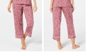 Charter Club Cropped Printed Pajama Pants, Created for Macy's
