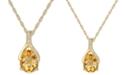 "Macy's Citrine (1-1/2 ct. t.w.) & Diamond (1/20 ct. t.w.) 18"" Pendant Necklace in 14k Gold"
