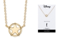 """Disney """"Toy Story"""" Star Badge Necklace in Gold-Tone Sterling Silver for Unwritten, 16"""" + 2"""" extender"""
