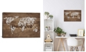 """iCanvas Wanderlust Map by Front Porch Pickins Gallery-Wrapped Canvas Print - 26"""" x 40"""" x 0.75"""""""